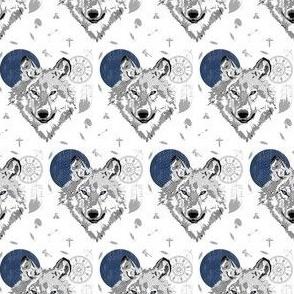 "2""  Boys Boho Wolf"