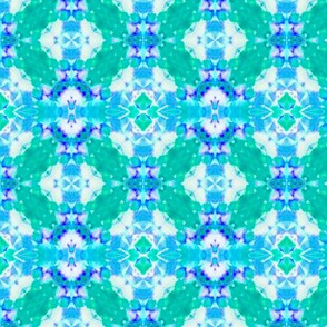 Blue & Teal Block Lace
