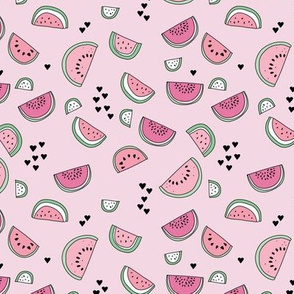 Sweet watermelon sugar love summer fruit garden pink