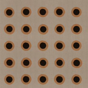 Masai Mara Linen Neutral - Copper Onyx Dots