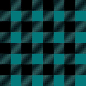 black and teal plaid - LAD19BS