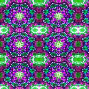 Green & Purple Lotus Blocks