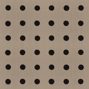 Masai Mara Linen Neutral - Onyx Dots