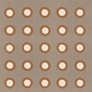 Masai Mara Linen Neutral - Copper Ivory Dots