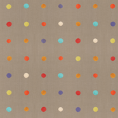 Masai Mara Linen Neutral - Multi Dots