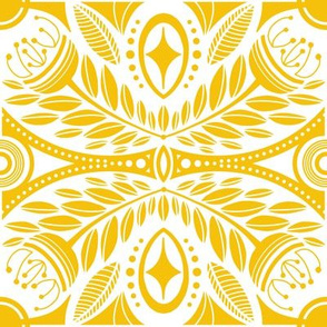 Yellow Geometric Floral