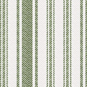 Ticking Two Stripe in Dark Green