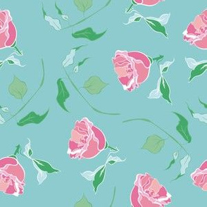 Beautiful flower vintage line repeat pattern design