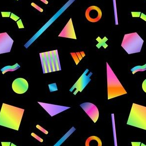 Neon Gradient Postmodern Shapes