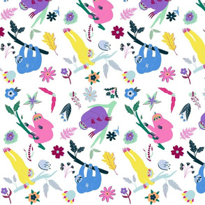 Floral Sloth Small