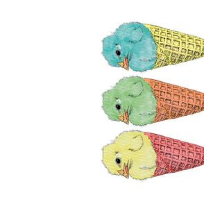 Chick in cone