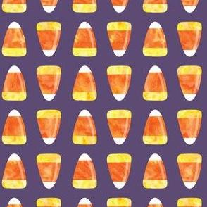 Candy corn - dark purple - halloween candy - LAD19