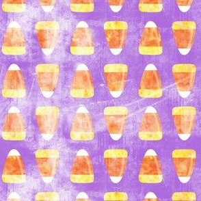 Candy corn - distressed purple - halloween candy - LAD19