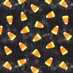 Candy corn - distressed black - halloween candy - LAD19