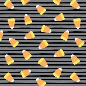 Candy corn - grey and black stripes - halloween candy - LAD19