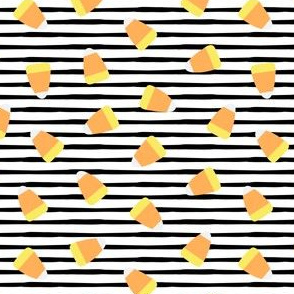 Candy corn - black stripes - halloween candy - LAD19
