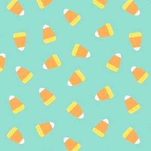 Candy corn - aqua - halloween candy - LAD19