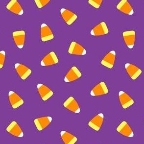 Candy corn - dark purple toss - halloween candy - LAD19
