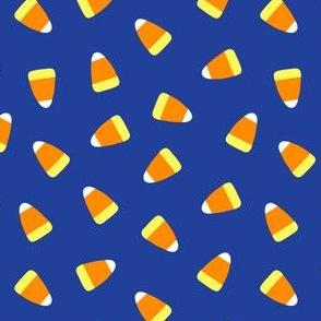 Candy corn - dark blue toss - halloween candy - LAD19