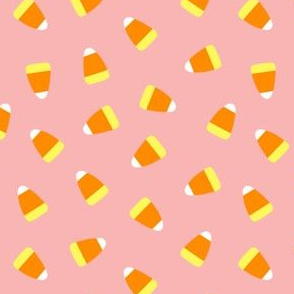 Candy corn - pink toss - halloween candy - LAD19