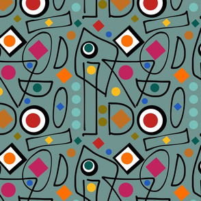 I Do Abstract - teal, continuous
