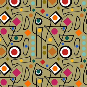I ado Abstract - olive, continuous