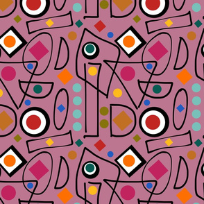 I Do Abstract - mushroom pink, continuous