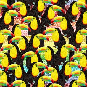 Rainbow Toucans Flock 7""