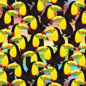 "Rainbow Toucans Flock 7"""