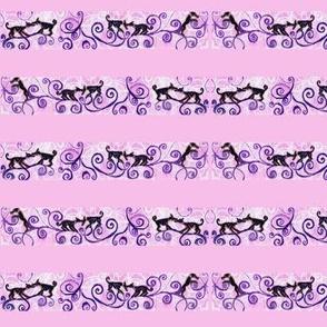 Dog sniff dog world (pink curls)