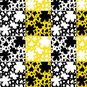 Hope Patchwork - black, yellow and white