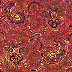 Chagall Paisley Red