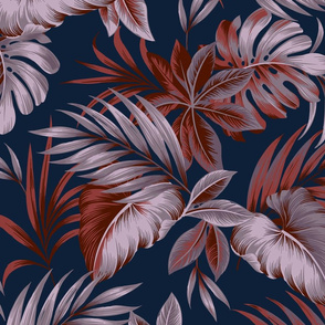 Brienne Floral - Navy Large