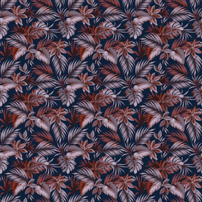Brienne Floral - Navy Small