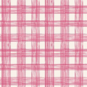 Sketch Gingham in Raspberry