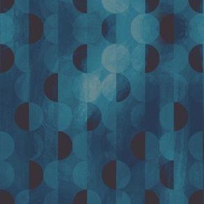 Semi-circle shift - moody blue