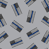 (extra small) Thin Blue Line - Back the Blue - American Flag - toss grey - LAD19