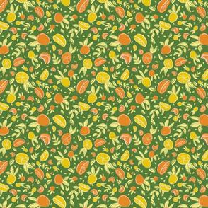 lemon orange leaf seamless repeat pattern design.