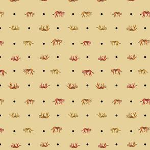 tiger polkadots mustard