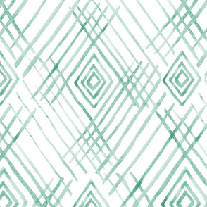 Tribal watercolor green