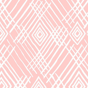 tribal white stripes blush