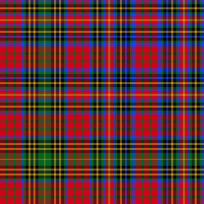 Christmas tartan based on Ogilvie (red/green/gold/blue)