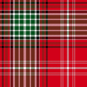 Christmas tartan based on Anderson of kineddar