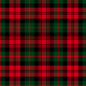 Christmas tartan based on Campbell / Black Watch tartan, 12""