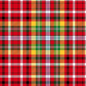 Christmas tartan based on Jacobite old sett