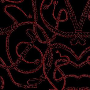 I <3 Whips (Red on Black)