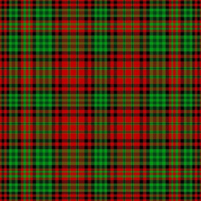 Christmas tartan based on Ogilvie red yellow