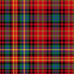 Christmas tartan based on Ogilvie red yellow - colorful