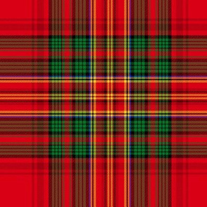 Christmas tartan based on Stewart variation
