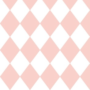 Pink Rosebud Diamond Pattern